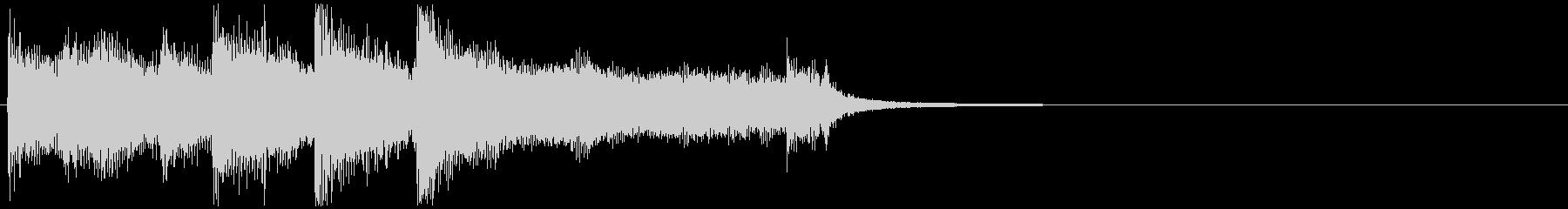 BigBandのファンファーレの未再生の波形