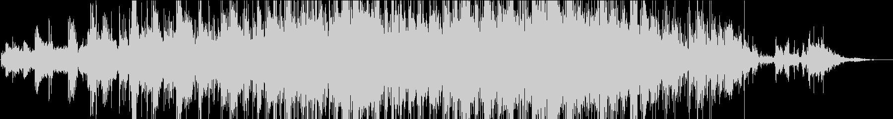 穏やかなインスト曲の未再生の波形