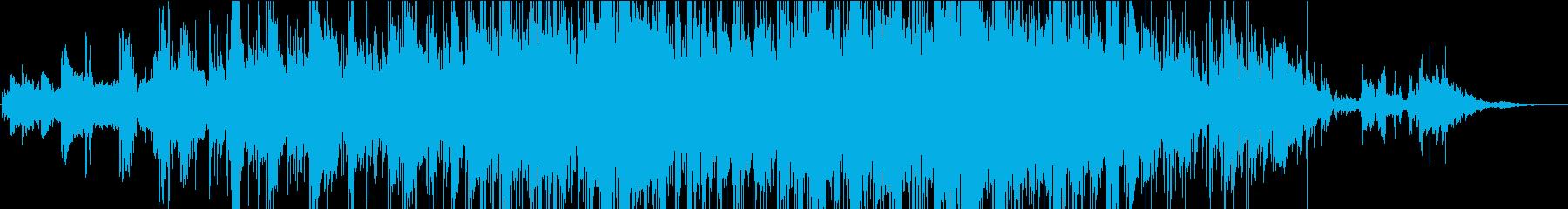穏やかなインスト曲の再生済みの波形