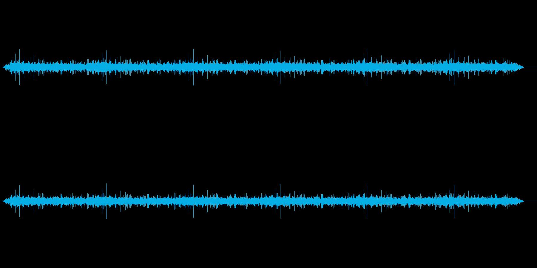 【録音】トイレ流水音1分(フェードイン)の再生済みの波形