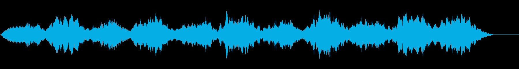 穏やかに重苦しい雰囲気のBGMの再生済みの波形