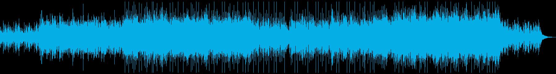 動画CM等感動的なアコースティックギターの再生済みの波形