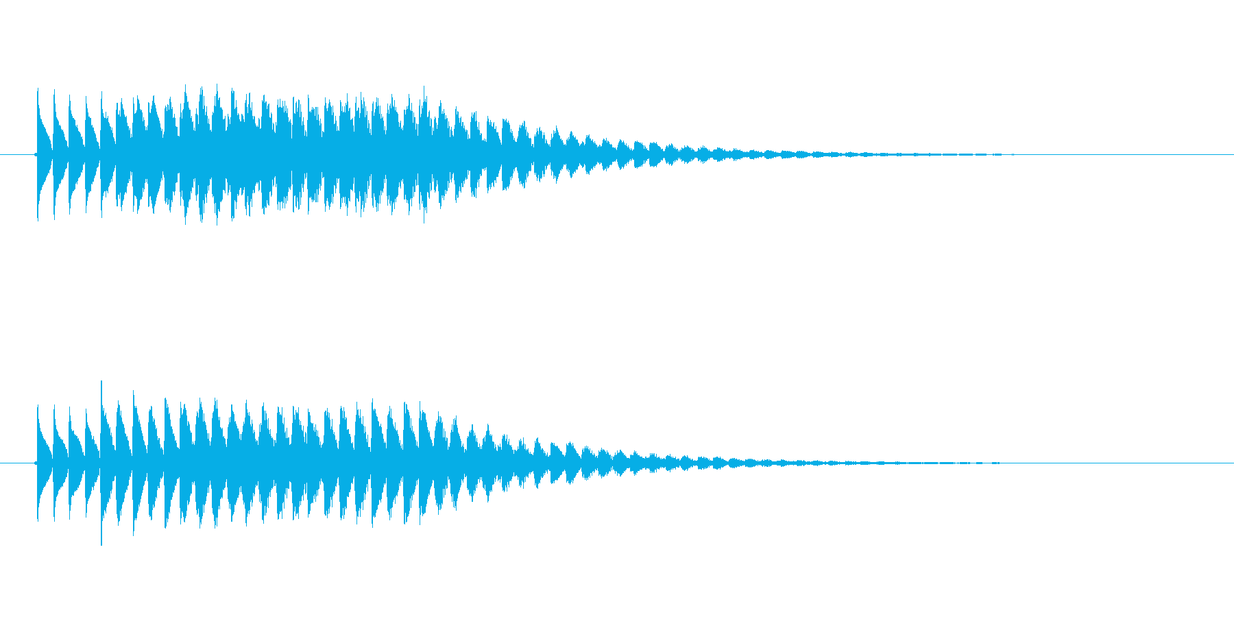 ピロロロロ(未来的な音)の再生済みの波形