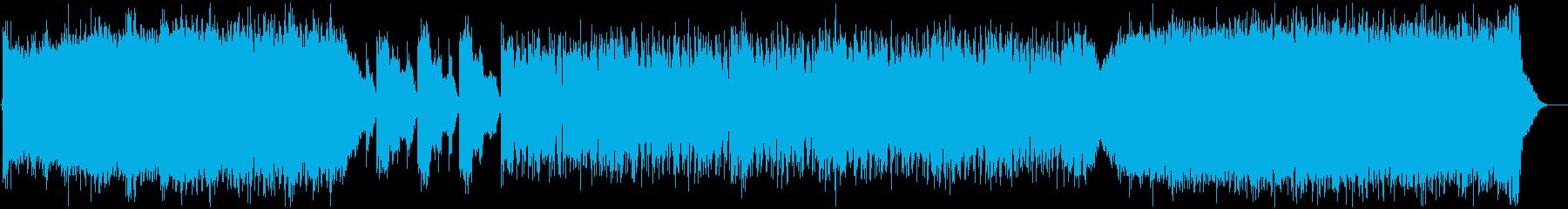 サイバーパンクな世界のテーマの再生済みの波形