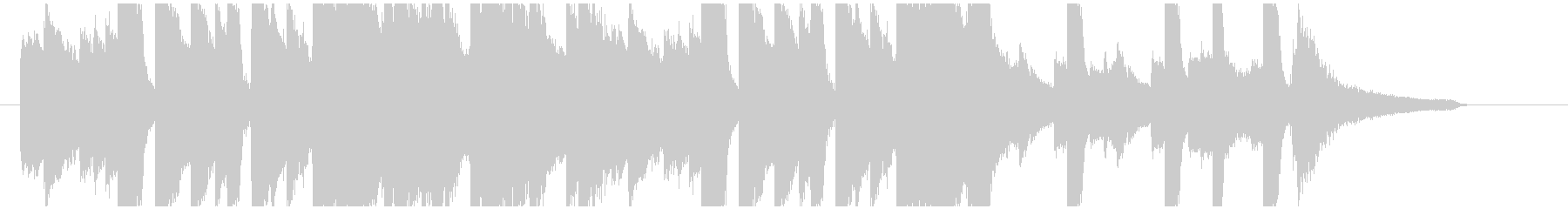 優しい雰囲気のピアノメインのBGMの未再生の波形