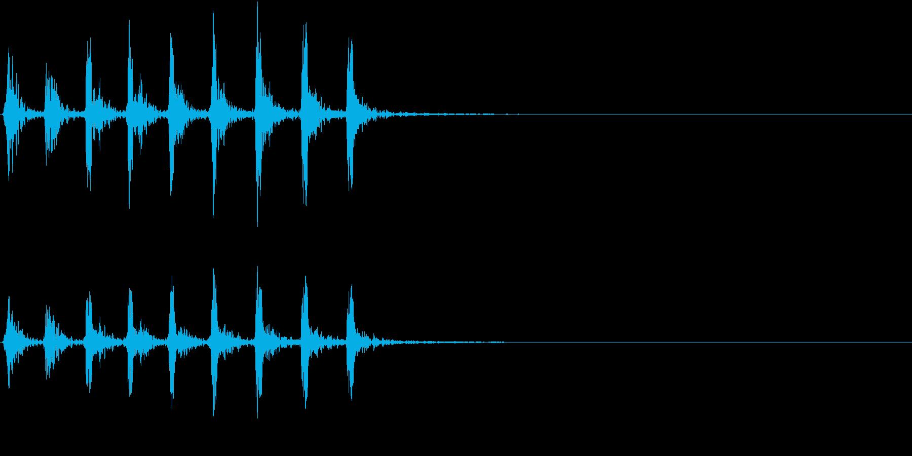 【生録音】小鳥のさえずり 野鳥 2の再生済みの波形