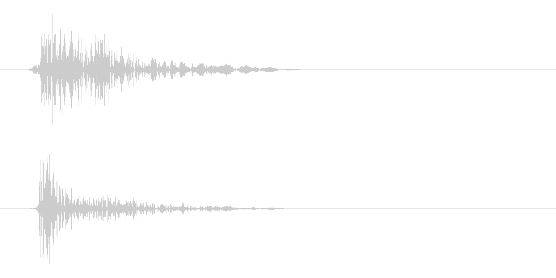 パシッ(ウィップ音)の未再生の波形