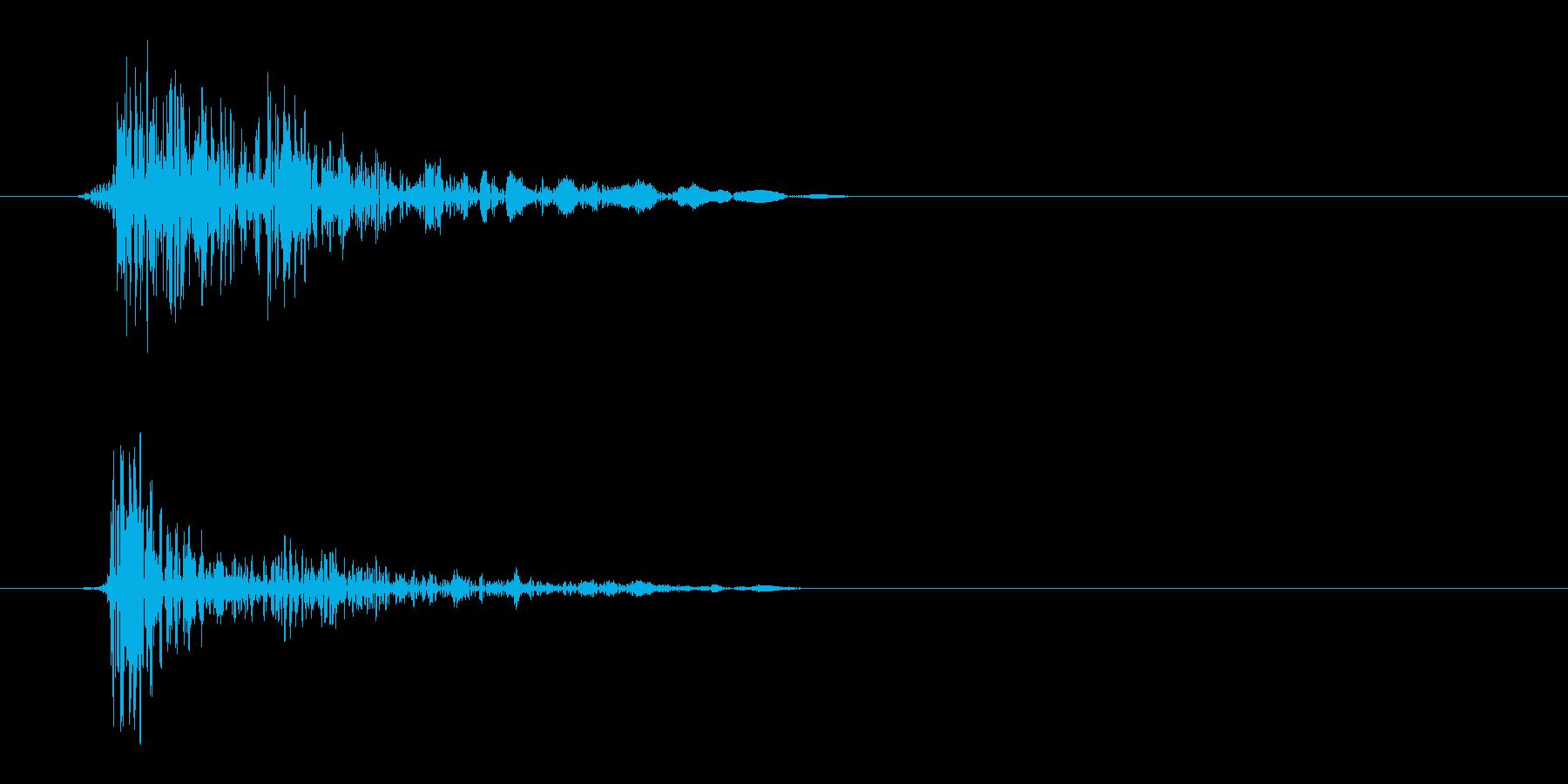 パシッ(ウィップ音)の再生済みの波形