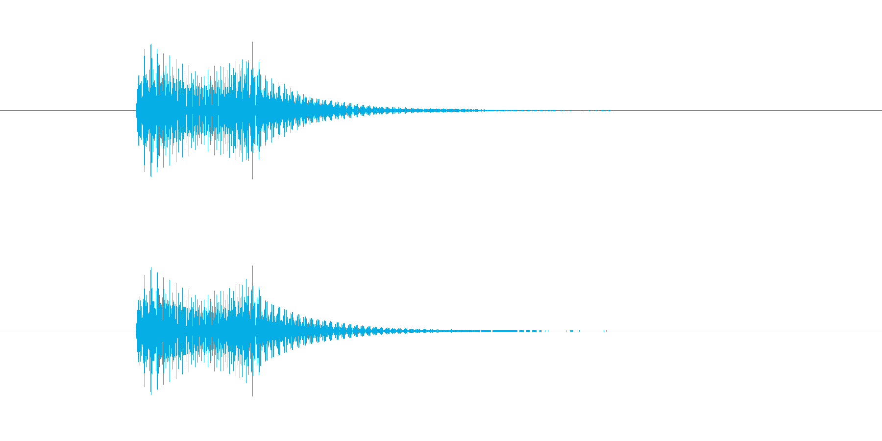 フィッ。 デジタル音。の再生済みの波形