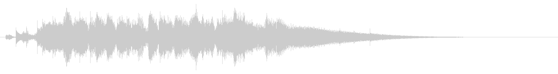 jazz風のピアノメインのジングルの未再生の波形