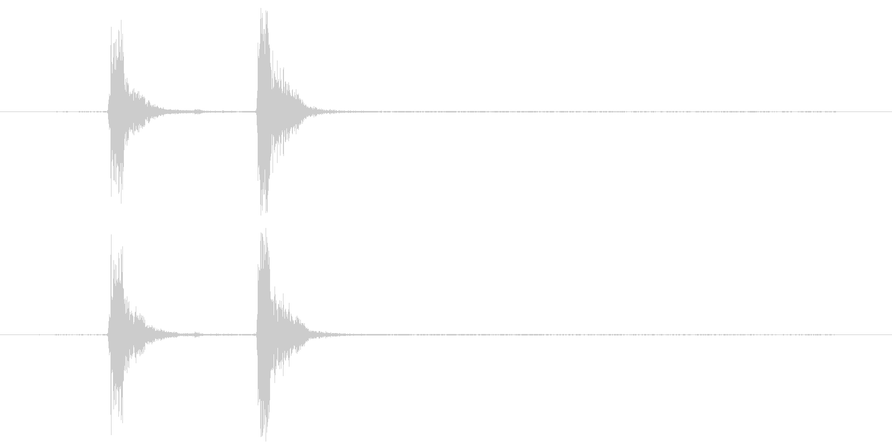 コンコン_咳3の未再生の波形