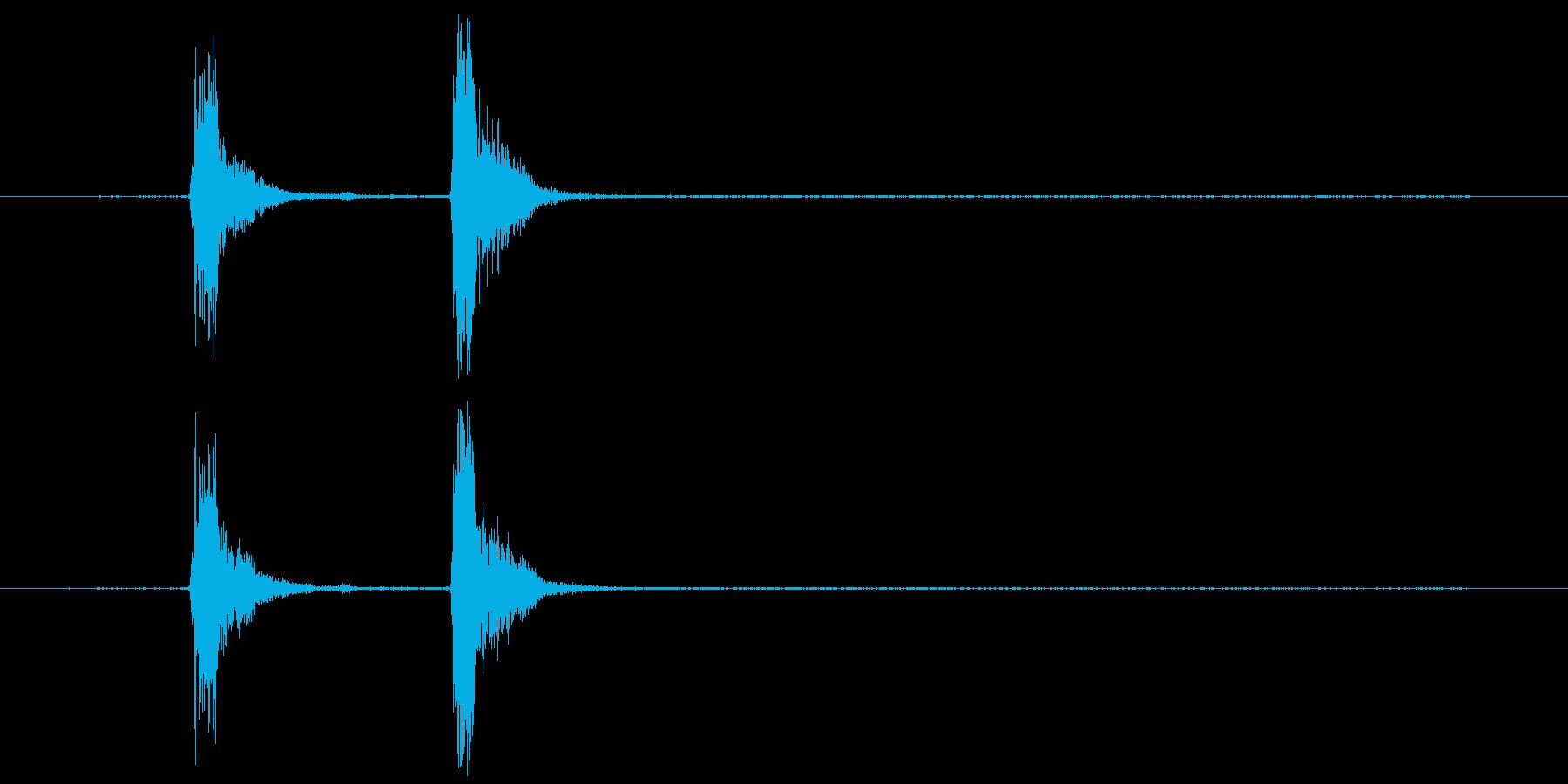 コンコン_咳3の再生済みの波形