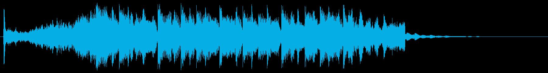 可愛い 綺麗 きらきらした15秒CMの再生済みの波形