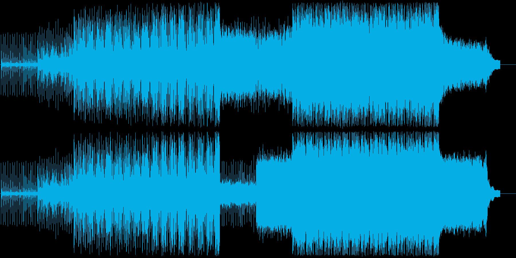 クールで不思議な曲調のテクノの再生済みの波形