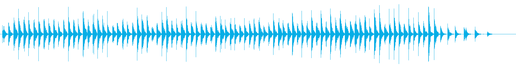 ウッドフロア:ソフトハイキングブー...の再生済みの波形