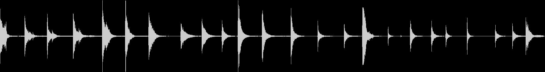 ドラムバレルヒットの未再生の波形