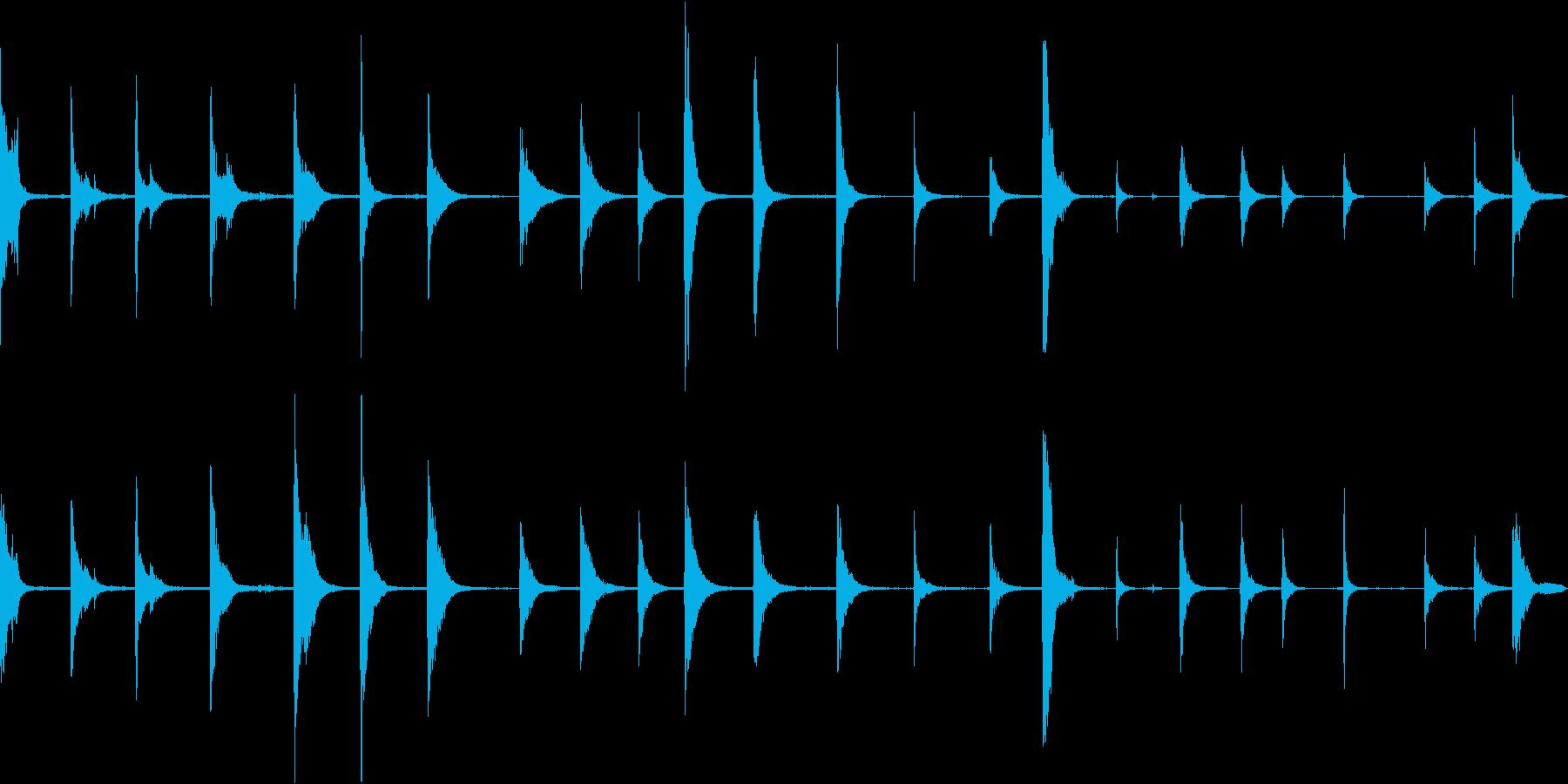 ドラムバレルヒットの再生済みの波形
