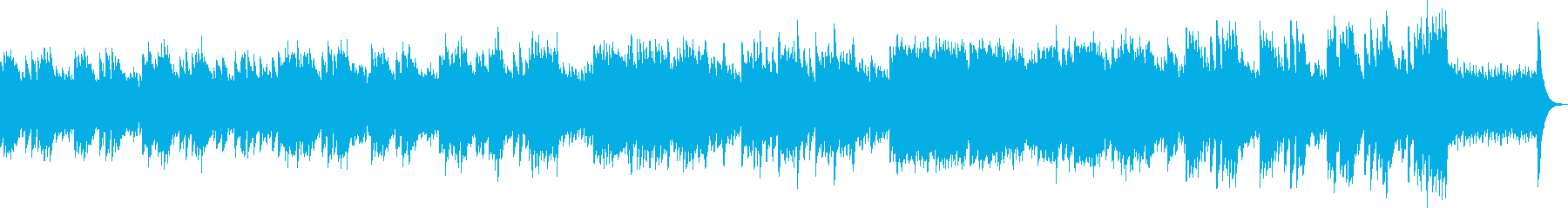キラキラしたオルゴールの哀愁あるワルツの再生済みの波形