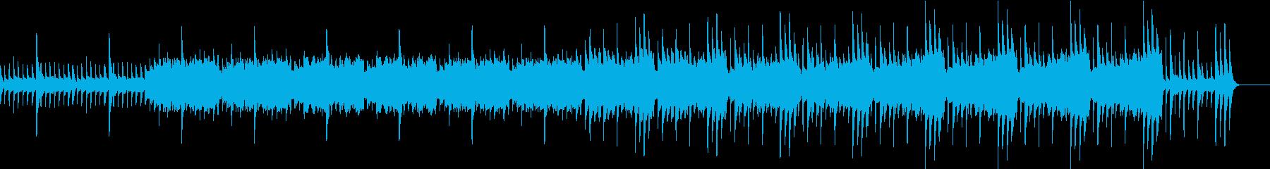 悲しいピアノとオーケストラのbgmの再生済みの波形