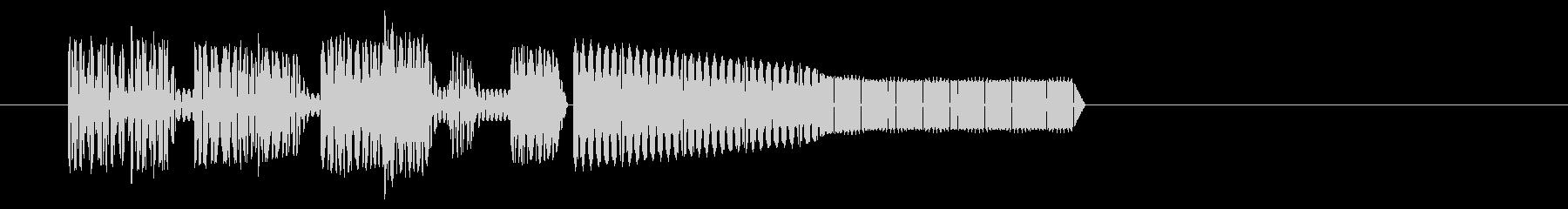レトロゲーム・和風のジングル6の未再生の波形