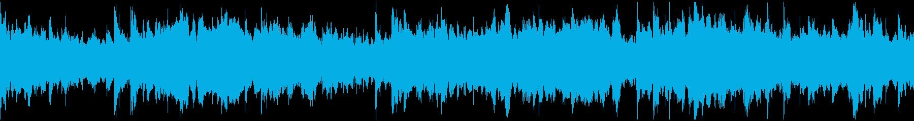 神秘的で重々しい雰囲気のBGMの再生済みの波形
