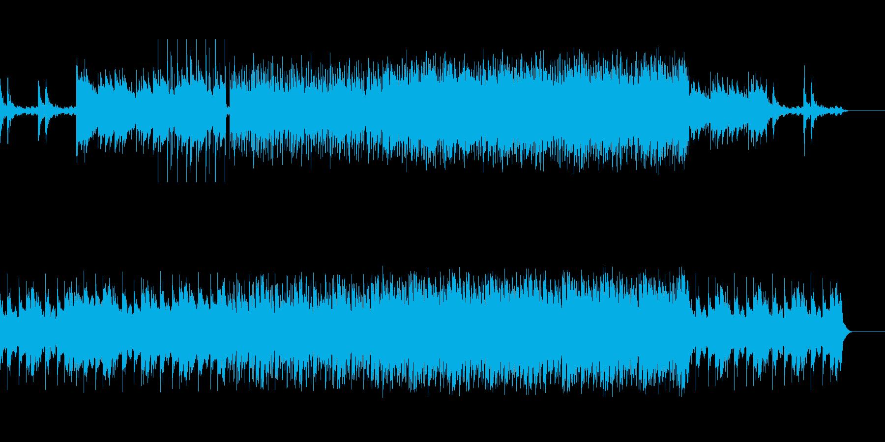 神秘的なシンセサイザーBGMの再生済みの波形