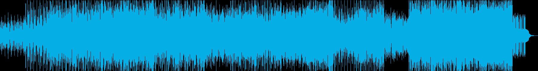 ハードエッジのビッグビートトラックの再生済みの波形