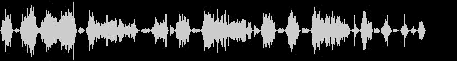 モンスターの長いうなり声1の未再生の波形