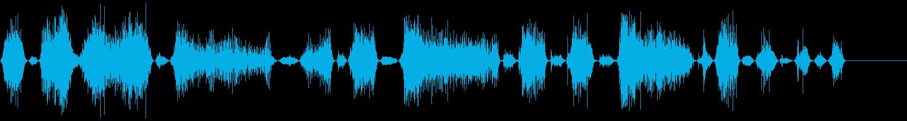 モンスターの長いうなり声1の再生済みの波形