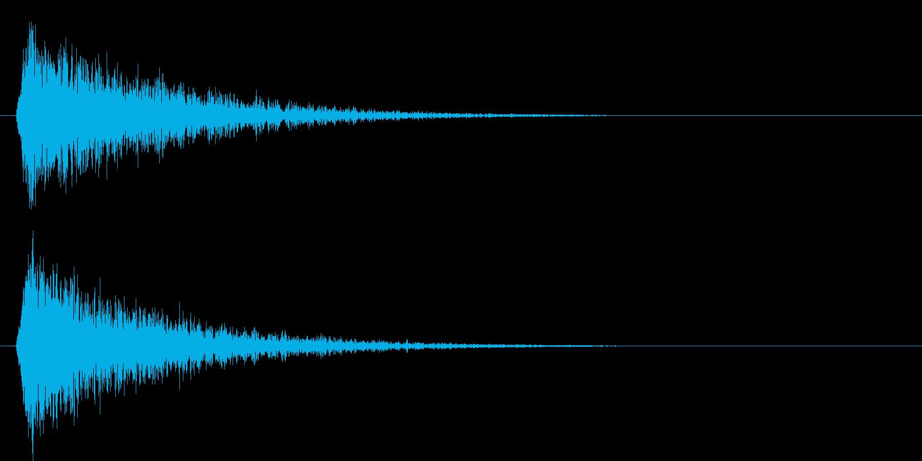 シャーン(斬撃音)の再生済みの波形