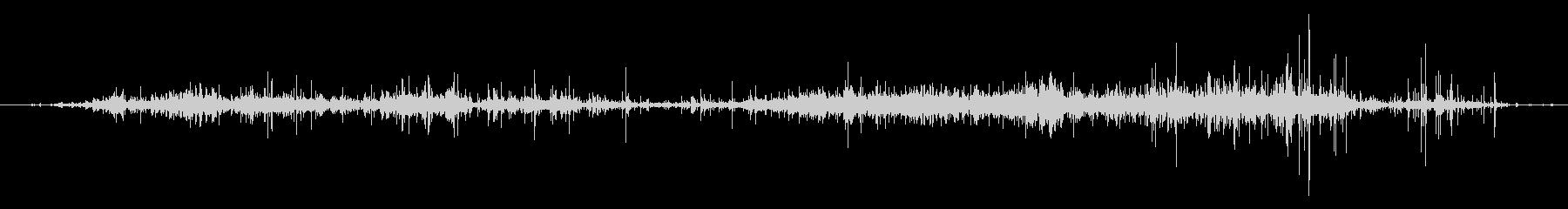ASMR ビニールをぐしゃぐしゃにする音の未再生の波形
