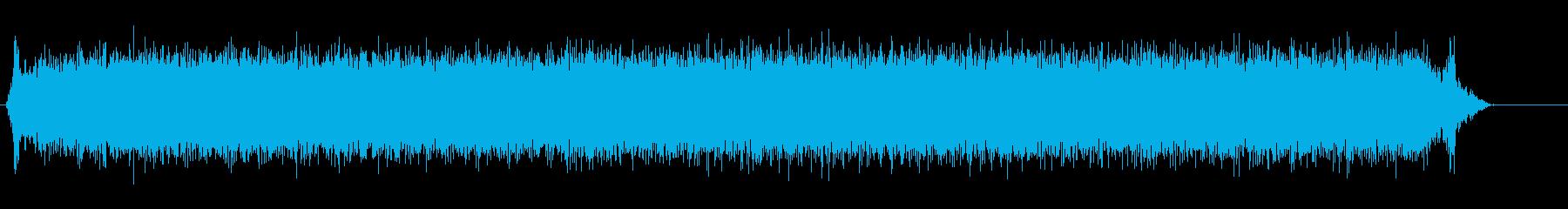 ミニフードチョッパー(オン、実行、オフ)の再生済みの波形