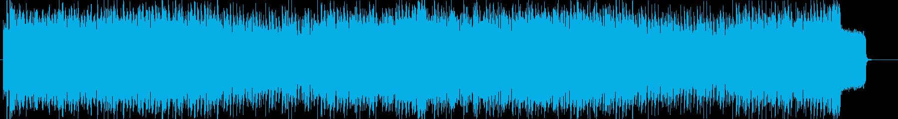 切なさとかっこよさを取り入れたEDMの再生済みの波形