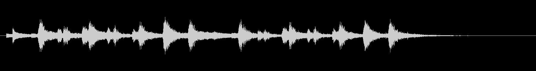 ピッツィカートによる不気味なジングル3の未再生の波形