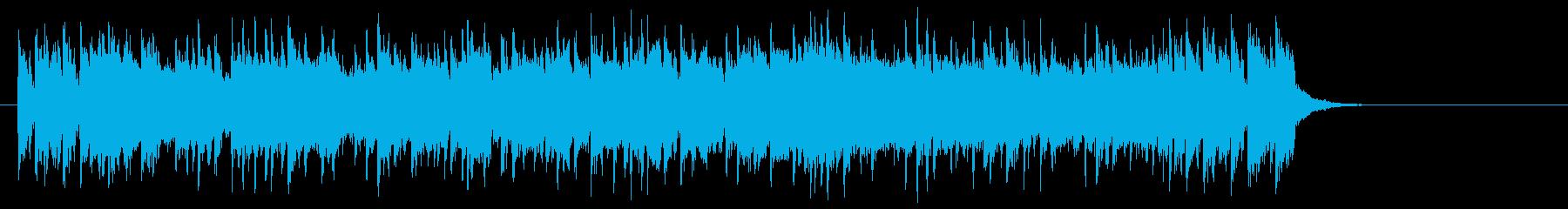 爽快なポップフュージョン(サビ)の再生済みの波形