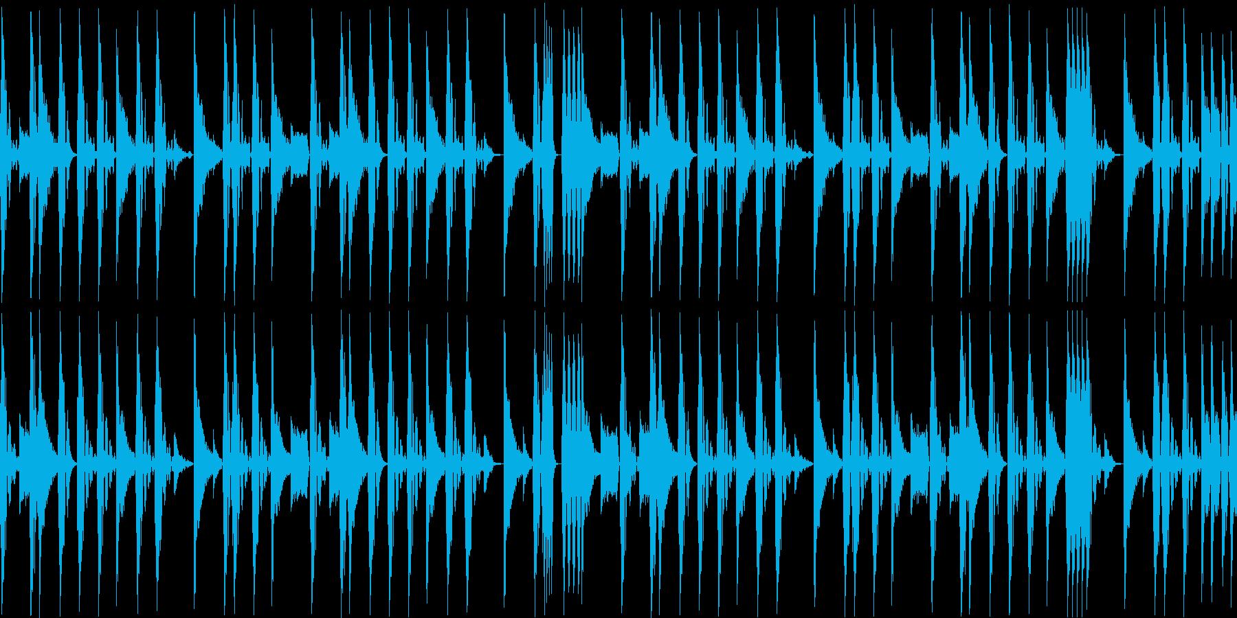 ノリの良いブレークビーツ_004の再生済みの波形