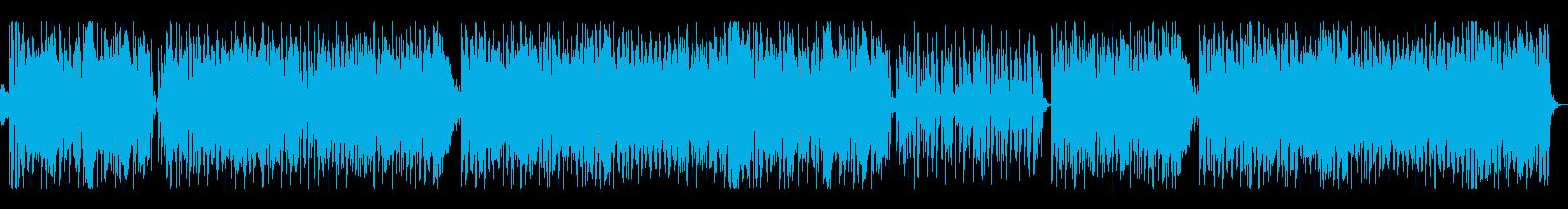 和の世界をイメージした電子音楽の再生済みの波形