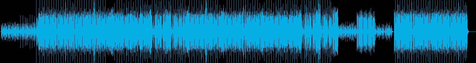 軽快なアップテンポビートミュージックの再生済みの波形