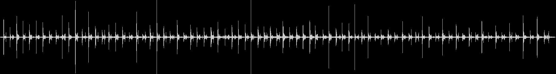 バイノーラル足音歩く1パンプス女性左の未再生の波形