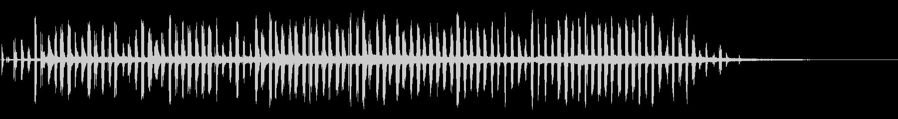 残響通信ビートの未再生の波形