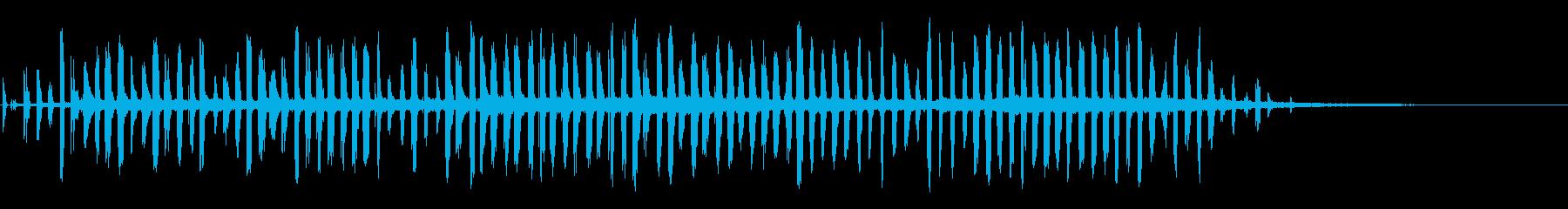 残響通信ビートの再生済みの波形