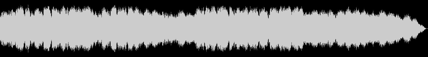 静かな眠りの音楽の未再生の波形