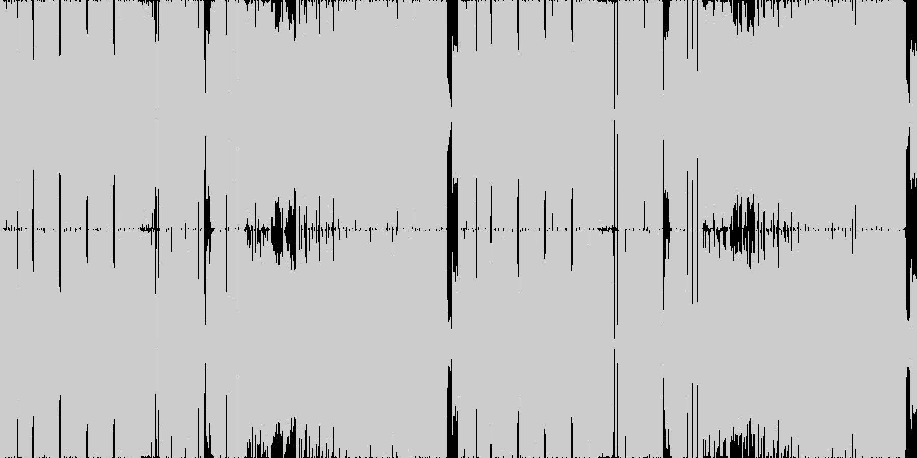 ホラー:お化けが演奏するラウドロックの未再生の波形