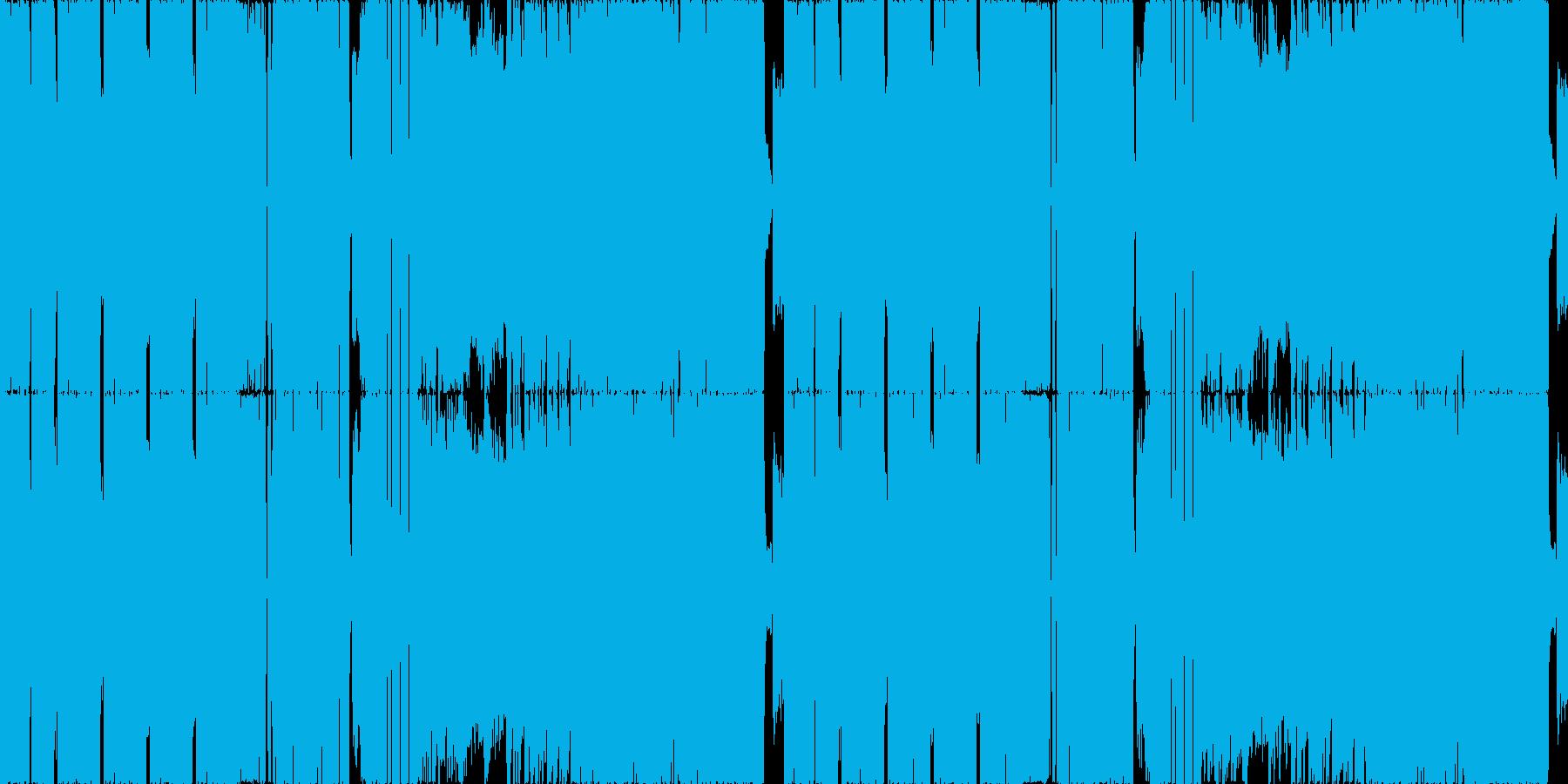 ホラー:お化けが演奏するラウドロックの再生済みの波形