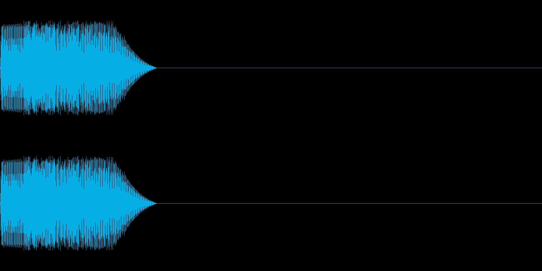 シンセサイザー 場面・シーン切り替え等の再生済みの波形