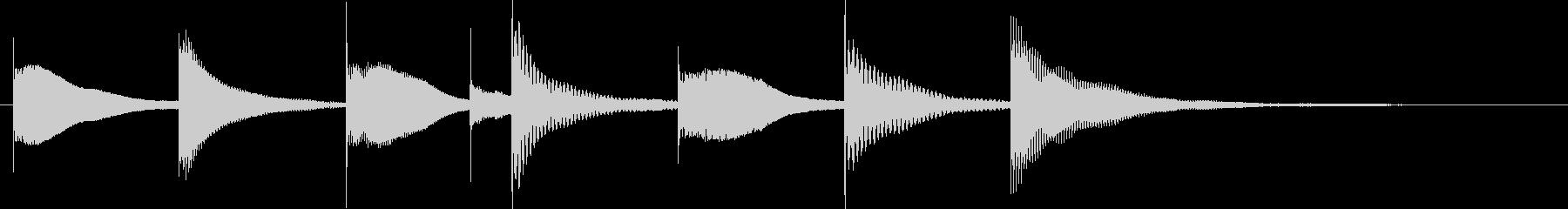 木琴、マリンバ、楽しいのんの未再生の波形