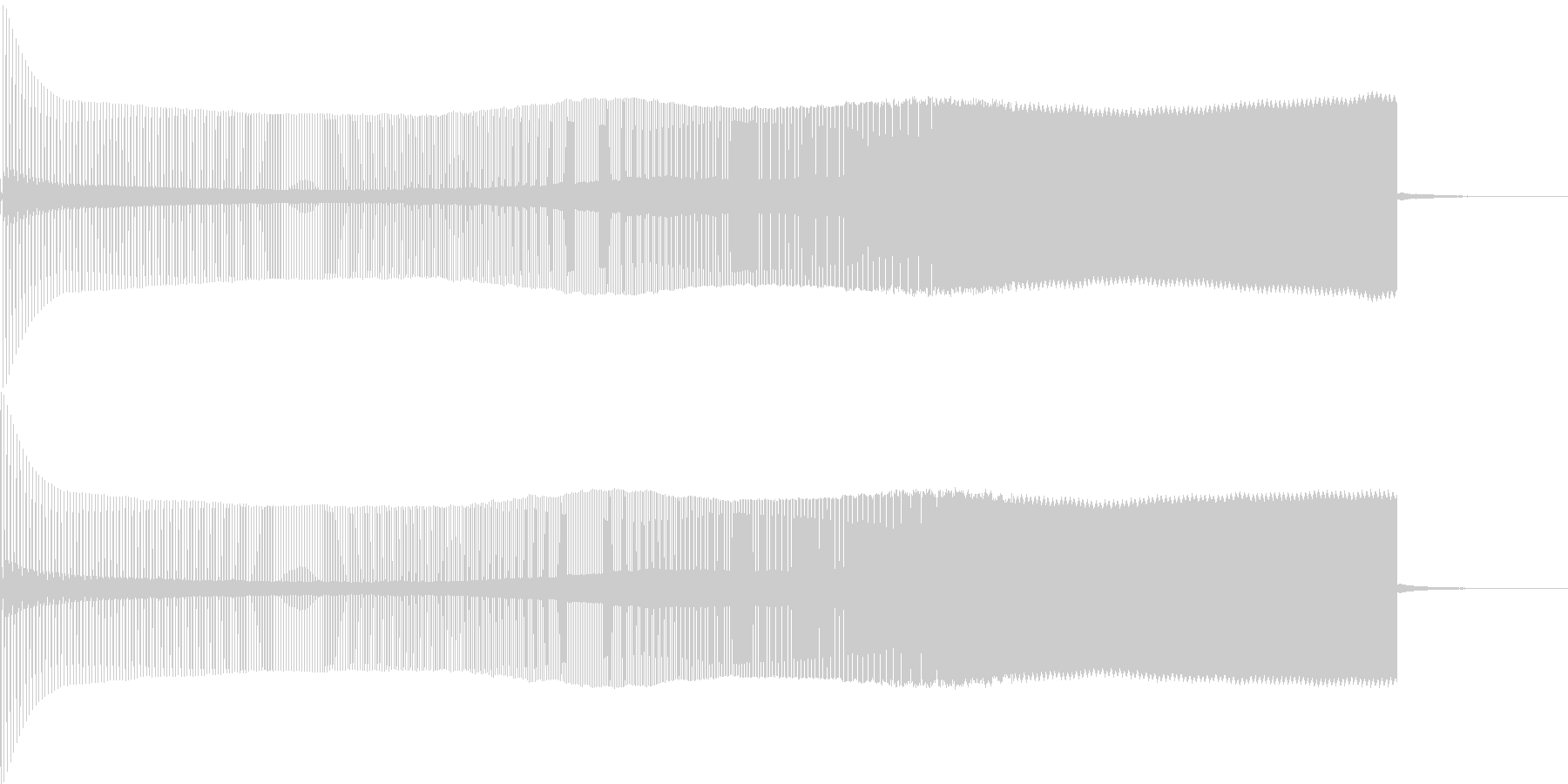 8ビット風上昇音の未再生の波形