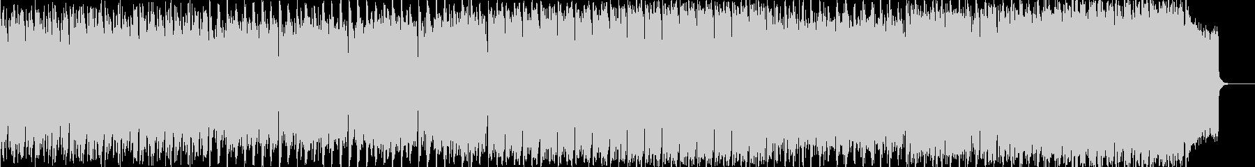 打楽器とフルート中心のBGMの未再生の波形