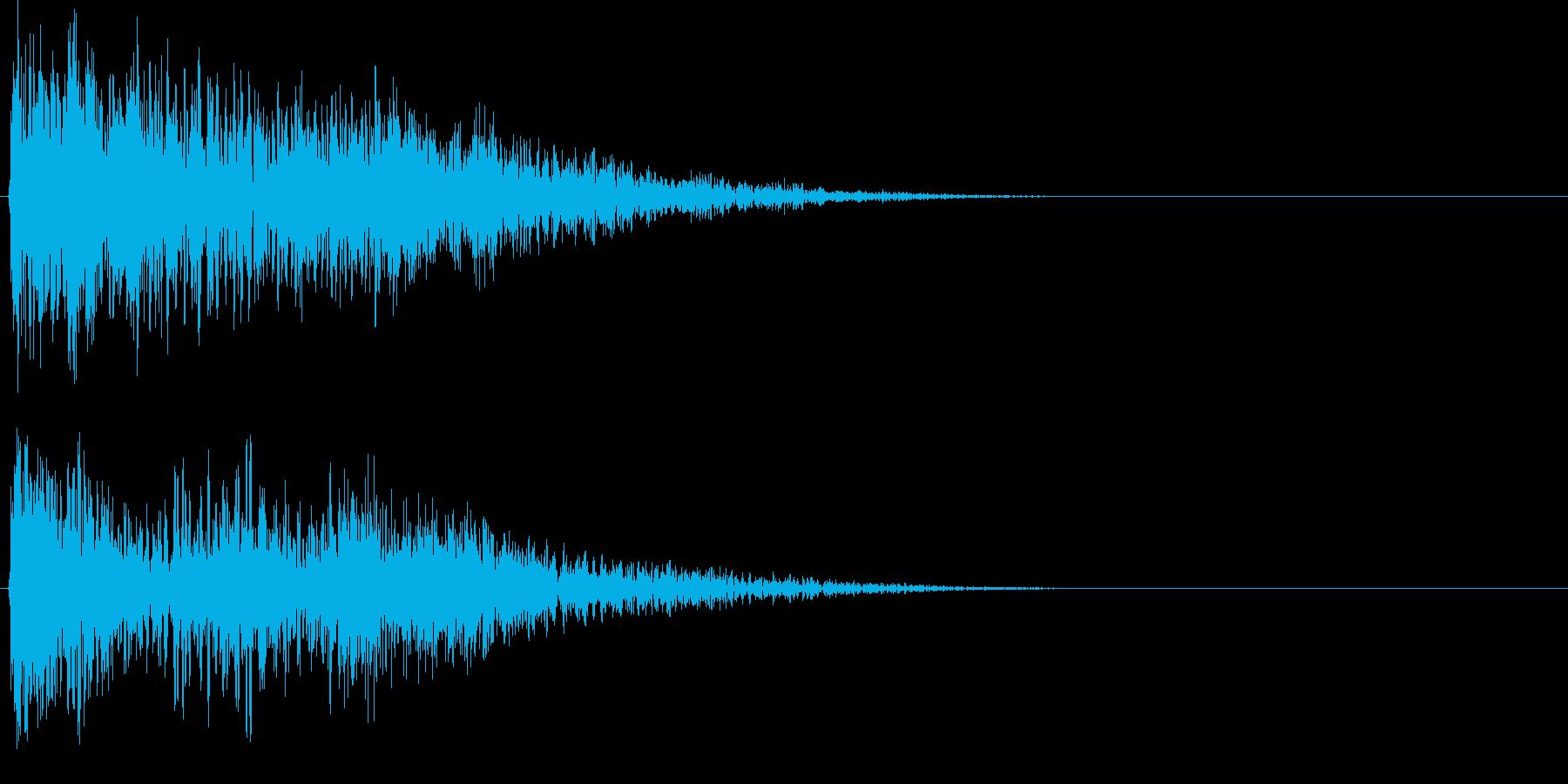少しファンタジックなゲームのセレクト音の再生済みの波形