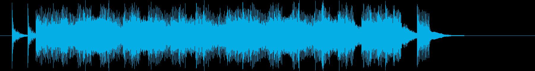 子供番組のシーンチェンジのような曲の再生済みの波形
